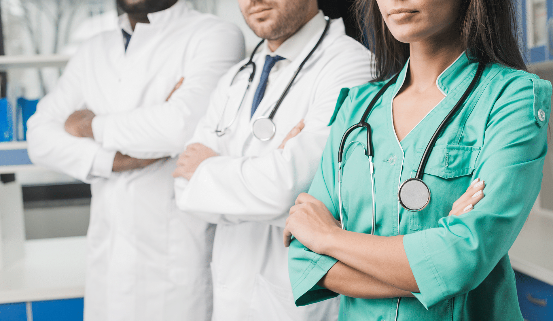 plantilla médicos mujer hombre bata