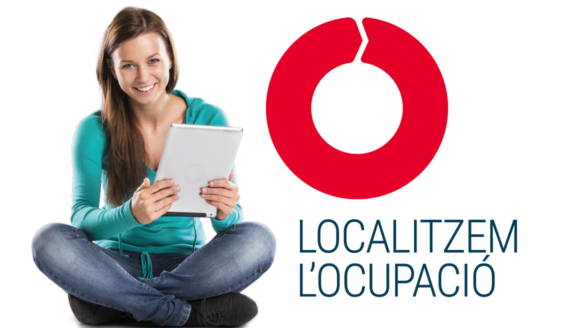 imagen corporativa chica con libreta logo Terrassa Ocupació