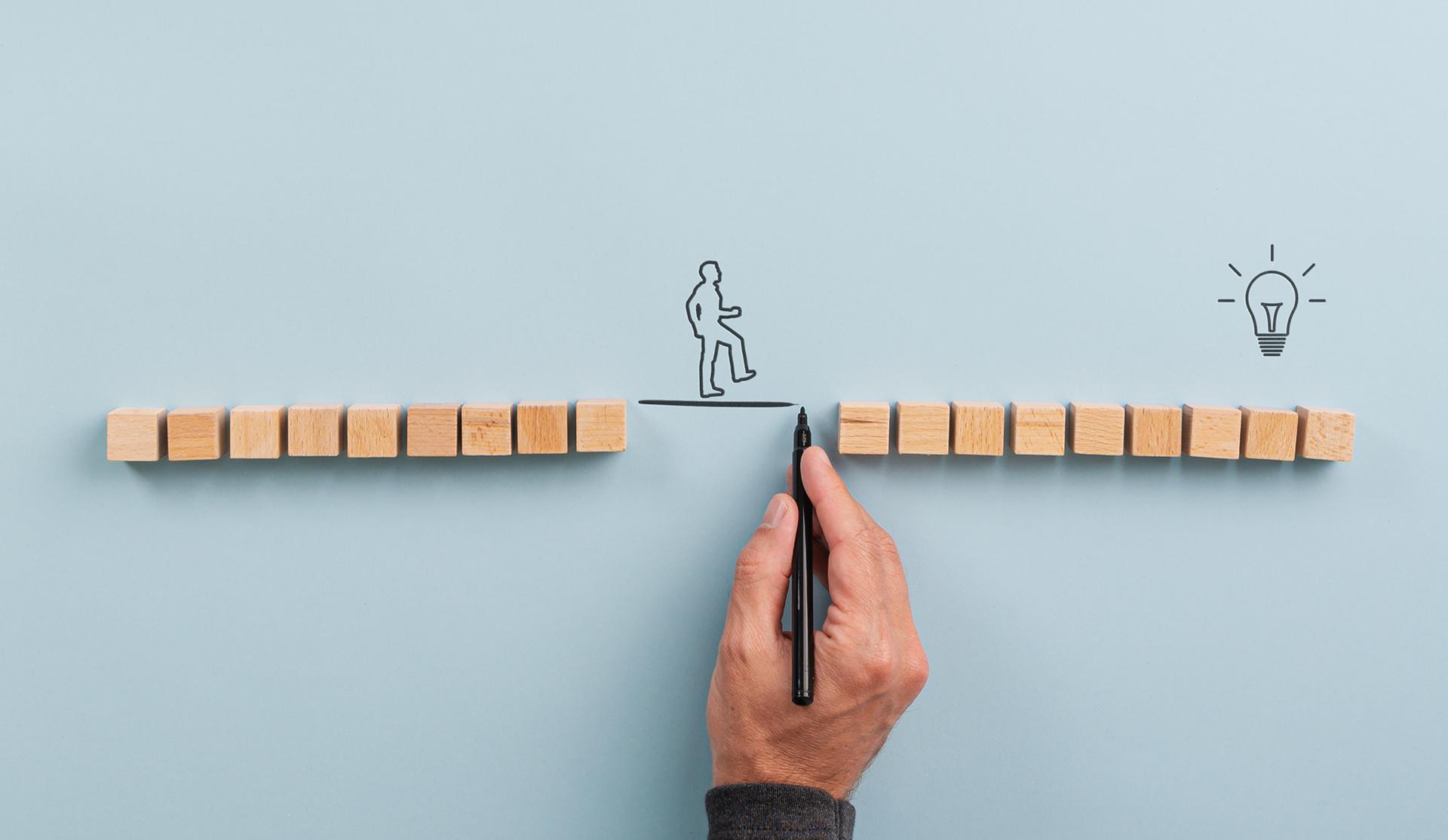 concepto de intermediación empresario tiende puentes