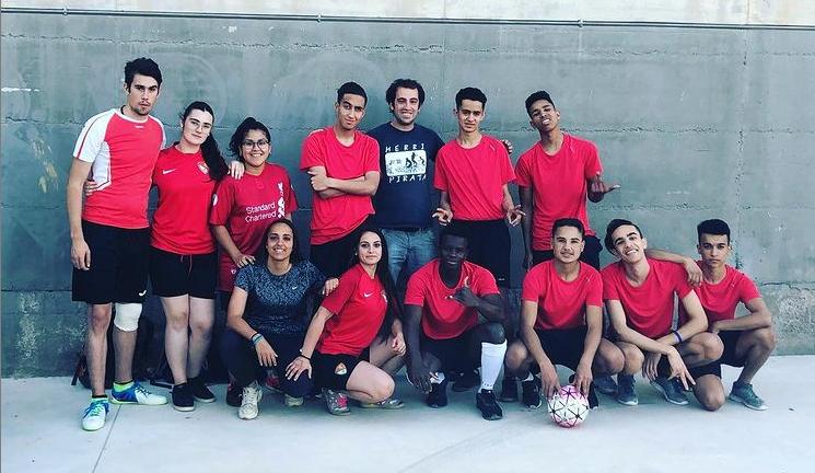 Joves participants del programa Esport als Barris